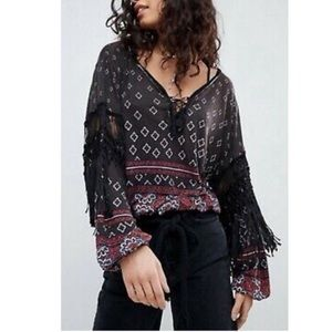 New Free People Macra Maze Me Top
